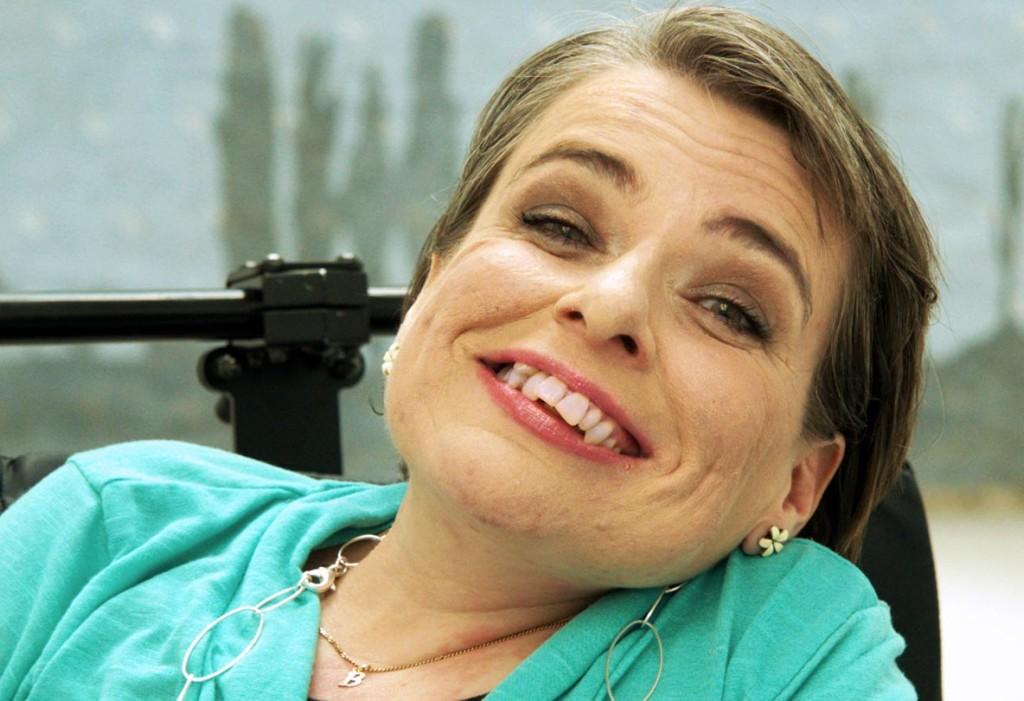 Birgit lachend