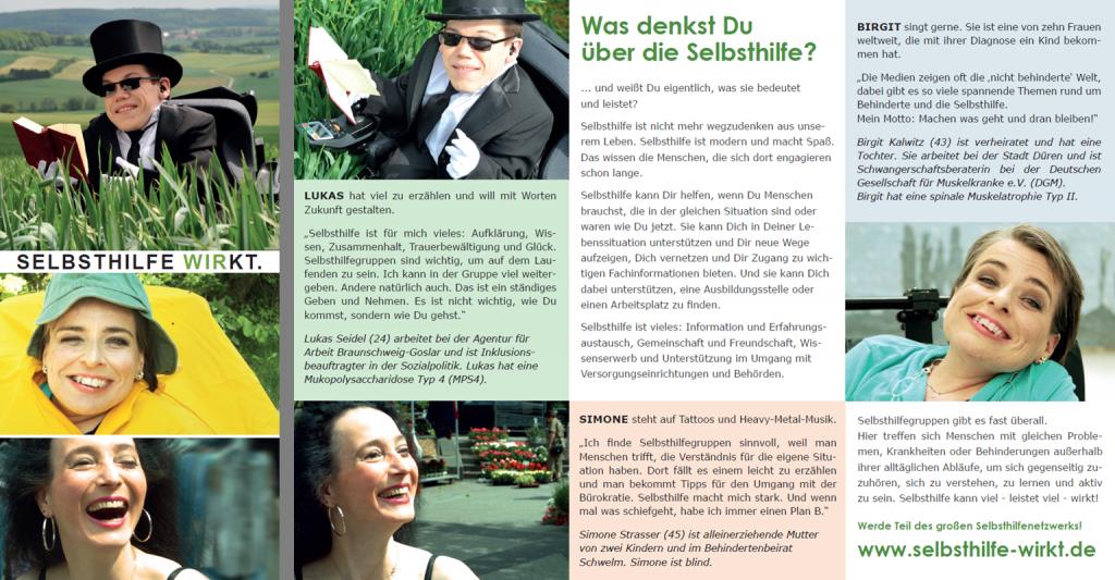 """Image-Flyer zur Kampagne """"WIR FÜR MICH. SELBSTHILFE WIRKT."""""""
