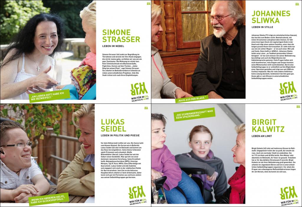 """Interviews mit den Protagonisten der Kampagne """"WIR FÜR MICH. SELBSTHILFE WIRKT."""""""
