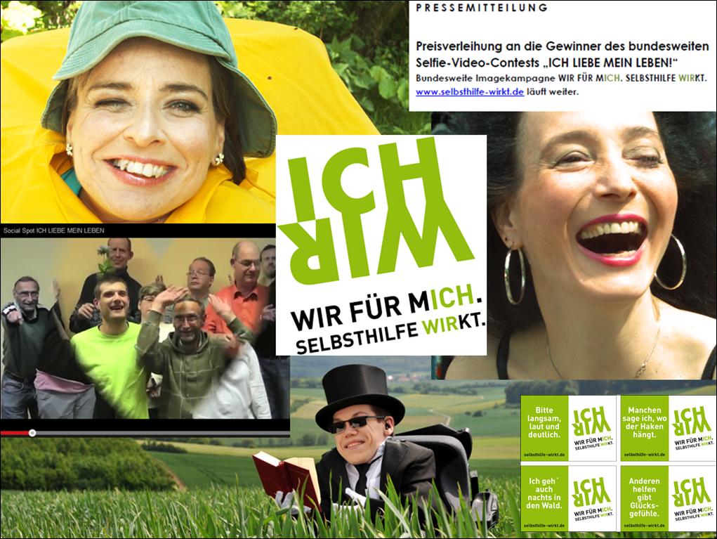 """Materialien zur Kampagne """"WIR FÜR MICH. SELBSTHILFE WIRKT."""""""